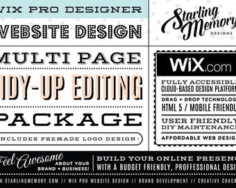 Wix Website TIDY-UP Package - Includes PreMade Logo Design - Wix WebDesign Package - Wix Pro - Wix Website Revamp - Wix Pro