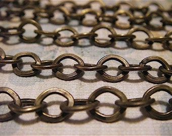 H.G. Wells - 5 Foot - Steampunk- Antique Bronze Cross Chain