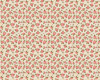 Penny Rose Fabric by the Yard, Calico Crow Flowers, by Lauren Nash for Riley Blake Designs, C7304-CREAM