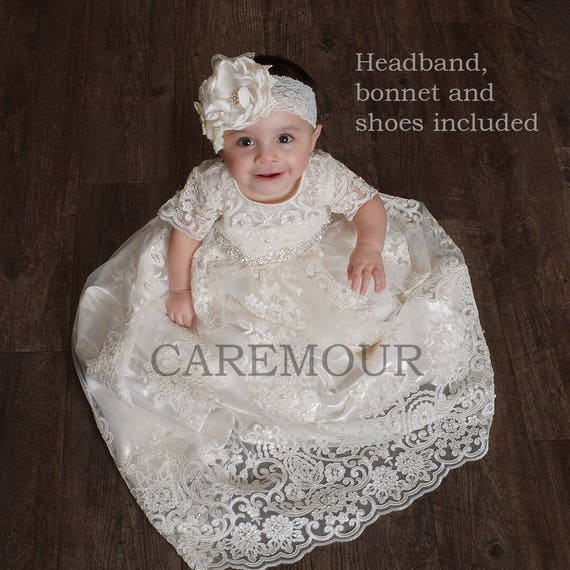 Lace Christening Gown Christening Gown Baptism Gown