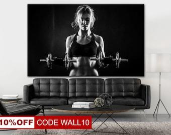 Bodybuilding Canvas, Gym Wall Art, Motivation Canvas, Gym canvas, Gym decor canvas, Motivation Print, Powerlifting Print, Bodybuilding Print