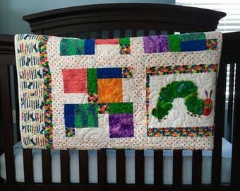 Colorful Caterpillar Quilt for baby or child