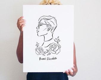Custom Portrait Illustration| Digital Art Illustration | Custom Portrait | Illustration Print
