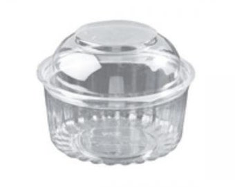 100 Clear Mini Bundt Cake Boxes - Also for Jumbo Cupcakes -Perfect for Weddings-Shower Favors, Birthday Favors