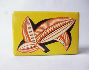 Vintage Bahlsen Biscuit tin Martel Schwichtenberg Art Deco 1930 's