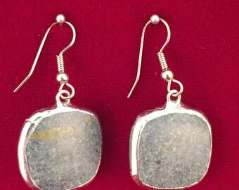 Broken China Earrings -- #20,087