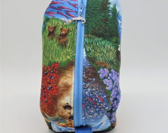 Alaska Travel Pouch, Northwest Ditty Bag, Shave Kit, Toiletry Kit, Pencil Case, Nature Gifts, Alaskan Gifts, Alaskan Vacation