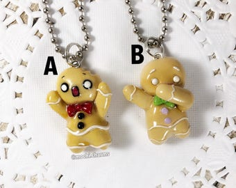 Polymer clay gingerbread men