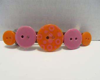 Polka Dot Button Barrette-Birthday Gift-Hair Accessories-Hair Clip-Barrettes for Women-Barrettes for Girls-Barrettes for Teens