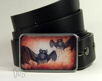 Bat Belt Buckle Two Bats Belt Buckle Halloween Belt Buckle Mens Belts Womens Belts Gift for Him Womens Gifts Birthday Gift