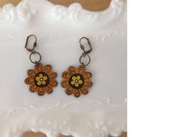 "Tin Jewelry Earrings ""Sunflower"" Tin for the Ten Year Tenth Wedding Anniversary"