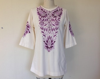 1960s embroidered cotton tunic