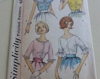 Vintage Simplicity Pattern 3928  Misses Set of Blouses Size 14
