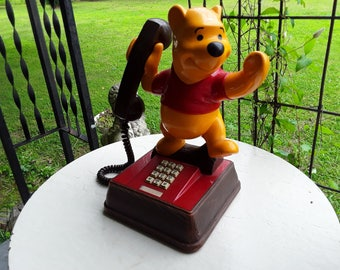 Vintage 1976 Winnie The Pooh Touch Tone Phone, Working Condition