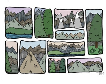 away with the mountains (A4 print)