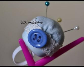 Blue Pincushion ring