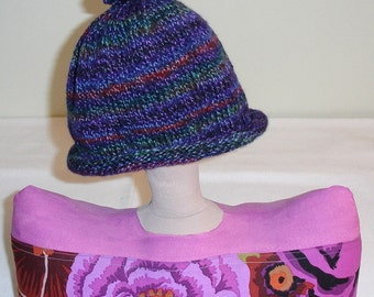Twizzle in Larkspur Handknitted Hat/Cap