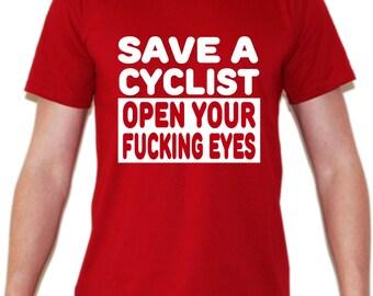 Save a Cyclist T Shirt / Save a Runner T Shirt