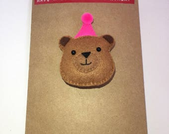 Bear Magnet Card (Have a Beary Happy Birthday) birthday card, magnet, gift, bear card, best friend