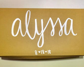 Bridesmaid Gift Boxes, Gift Boxes, Hand Lettering Gift Boxes, Bridesmaid Gifts