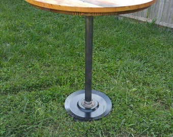 Reclaimed barn wood rustic pub height table