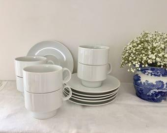 Vintage arzberg porcelain tea cups and saucers.