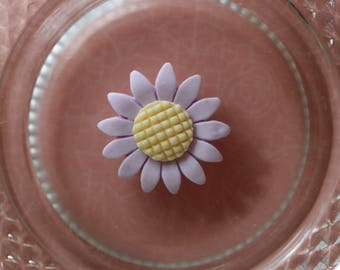 light purple Daisy flower cabochon scrapbooking