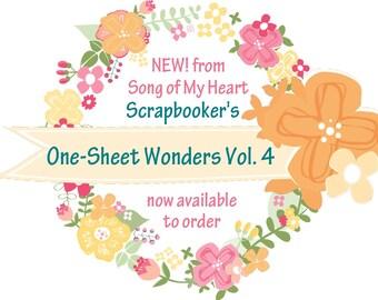 Vol. 4 Scrapbooker's One-Sheet Wonders: Instant Digital Download