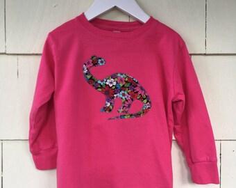 Floral Dinosaur Bodysuit | Baby One Piece Romper| STEM Girls