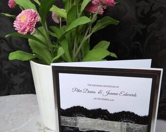 Wedding Invitation with RSVP pocket & RSVP card