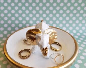 Gold Elephant Ring Holder