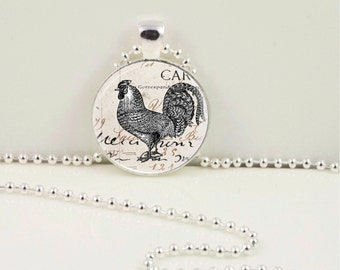 Vintage Rooster Pendant