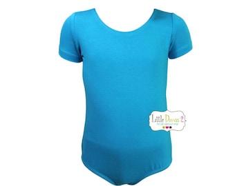 Child (Turquoise) Short Sleeve Leotard