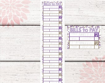 Monthly Bill Tracker Stickers | September 2016 Color Palette | LB138 |