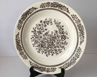 Serving Plate Royal China in Sussex Pattern Beautiful Brown Botanical Anthopologie Style Cavalier Ironstone Platter Chop Plate