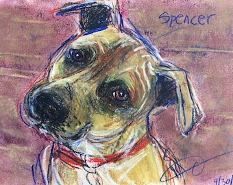 This is Spencer. You would be ordering a custom sketch of your dog.