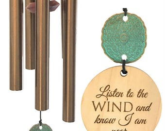 BEST Seller Custom Memorial Wind Chime Gift After Loss Wind Chime Loved One In Memory of family member Copper