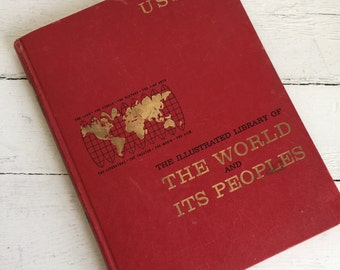 Vintage Book - The World and It's People - USSR - Clinton Library Dedication Program Inside -