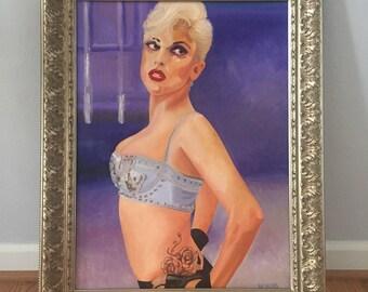 Lady Gaga portrait 'Marry the Night' original oil painting