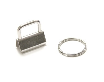 "10 sets 1"" (25mm) key fob hardware with 25mm split ring"