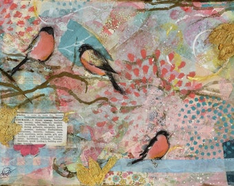 Courage, 8x10 print of original mixed-media collage