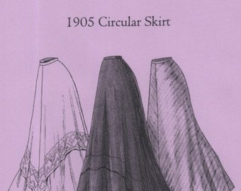 TVE22 - Truly Victorian #E22, 1905 Circular Skirt Sewing Pattern