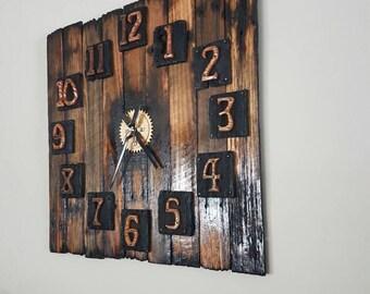 Giant rustic clock
