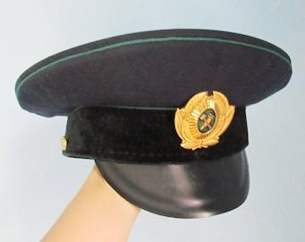 steampunk Accessories Memorabilia Military collectable Soviet Military Hat Military Cap Soviet Army Cap Soviet Cap SIZE 58, US: 7 1/4