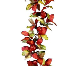 6' Christmas Magnolia Leaves/Ornament Garland