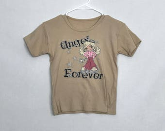 Angel forever beige tee size S