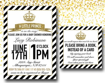 Little Prince Baby Shower Black and Gold