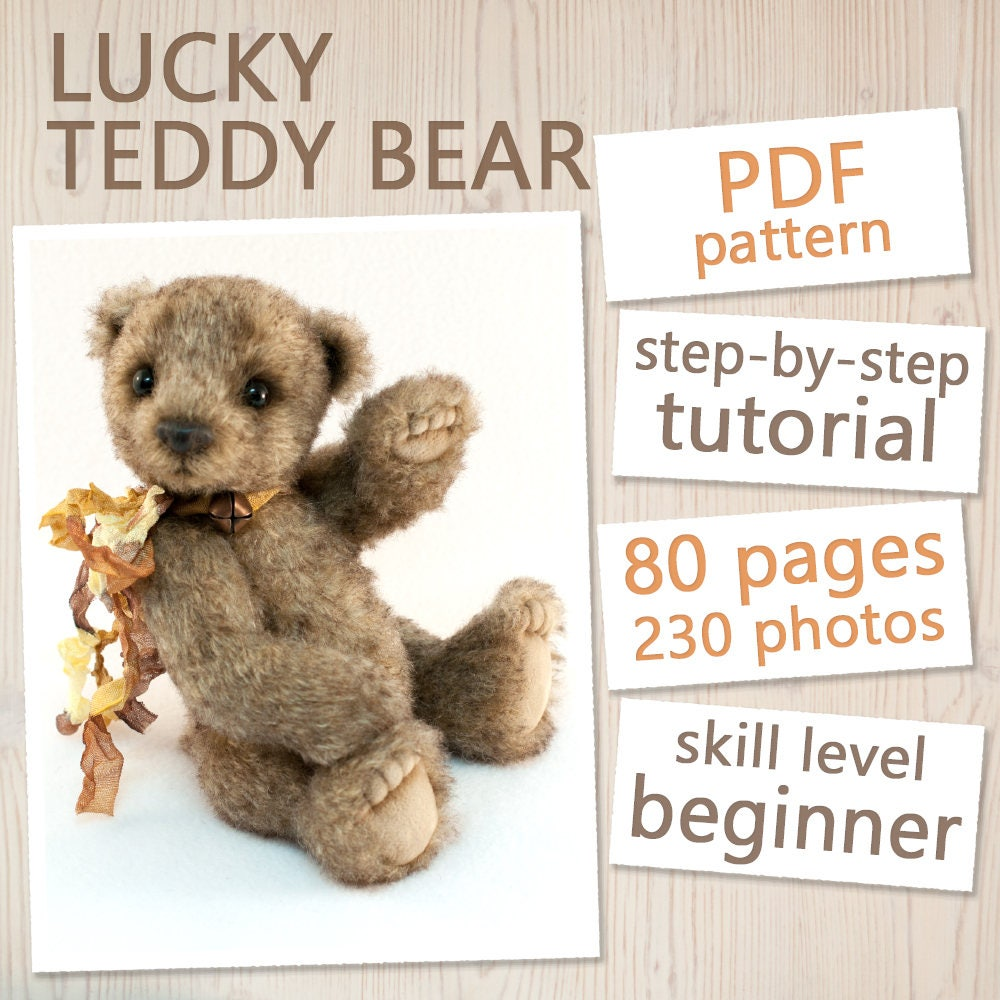 Teddy bear pattern tutorial instant download pdf sewing zoom jeuxipadfo Choice Image