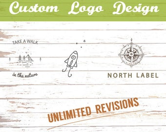 Custom Logos - Hand drawn logos - Vintage style logos - Rustic logos - Unlimited revisions - DOWNLOADABLE logo design