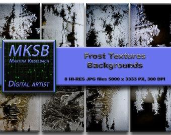 Frost textures, Overlays, Backgrounds, Downloads, Instant Download, digital Background, images, textures, files, digital downloads,